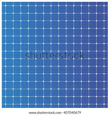 Solar cell pattern, vector - stock vector