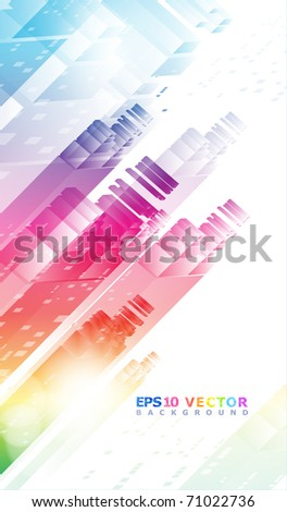 Solar City. Eps10. - stock vector