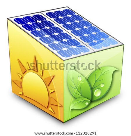 Solar energy concept - stock vector