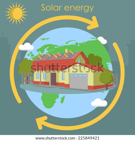 solar energy panel - stock vector