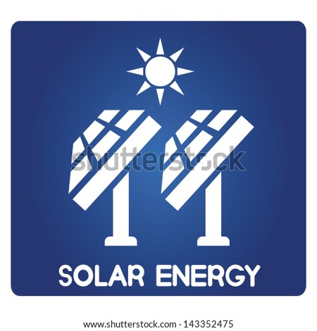 solar energy, solar panels - stock vector