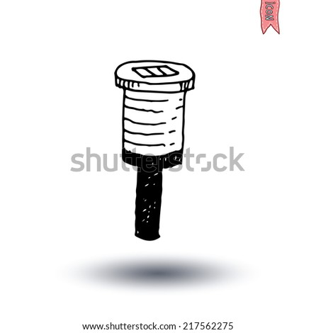 solar lamp garden light, vector illustration. - stock vector
