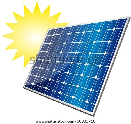 solar module - stock vector