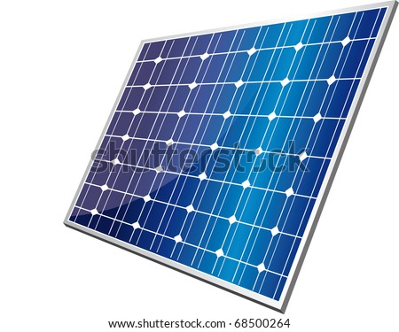 solar panel - stock vector