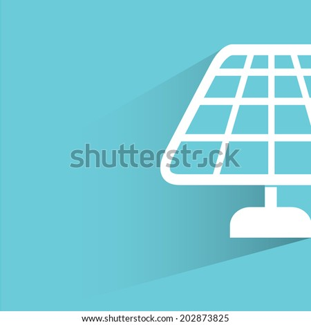 solar panel, blue shadow and flat theme - stock vector