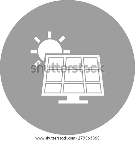 Solar, panel, energy icon vector image. Can also be used for energy and technology. Suitable for web apps, mobile apps and print media. - stock vector