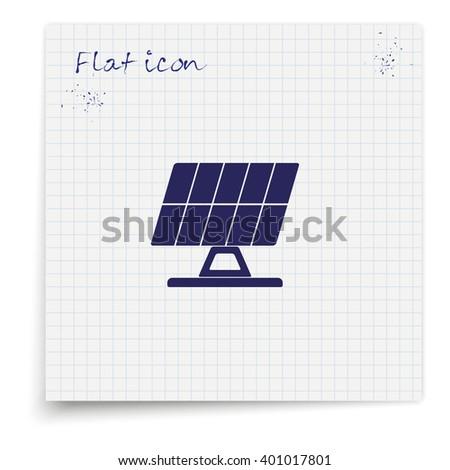 Solar panel icon. - stock vector