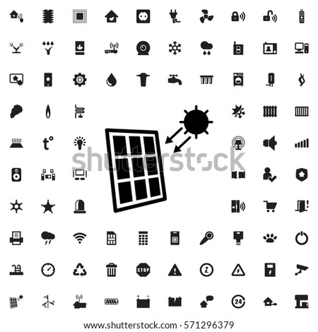 solar panel icon illustration isolated vector sign symbol