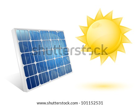 Solar panel icon. Vector illustration
