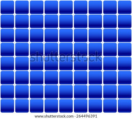 Solar Panel, Solar Cells, Photovoltaic (PV) Cells. Seamless, Repeatable Pattern, Background - stock vector