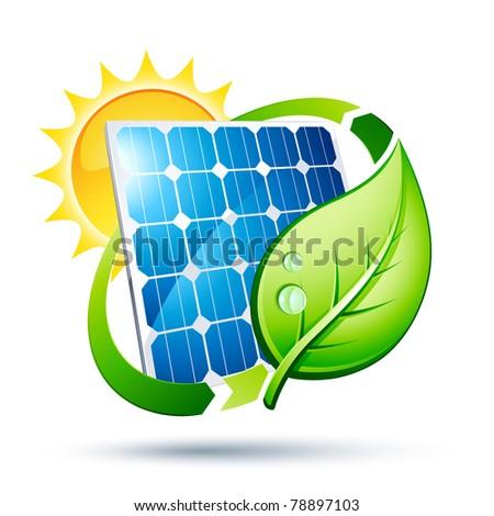 solar panel vector - stock vector