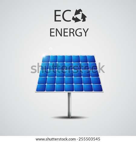Solar panel vector illustration - stock vector