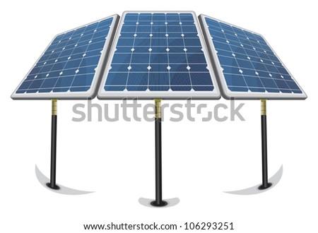 Solar Panels - stock vector