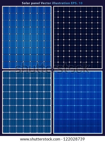 Solar panels, vector collections - stock vector