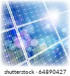 solar power panel & blue sky - stock photo