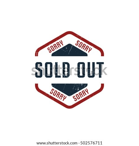 Sold Out badge in grunge style