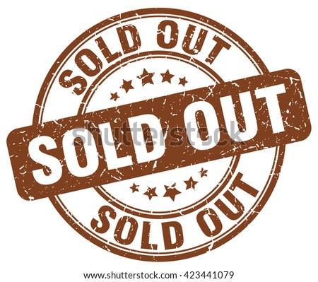 sold out brown grunge round vintage rubber stamp.sold out stamp.sold out round stamp.sold out grunge stamp.sold out.sold out vintage stamp. - stock vector