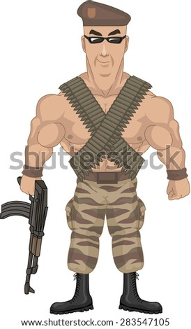 soldier - stock vector