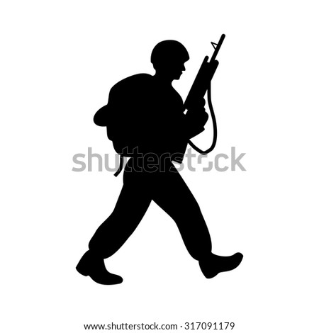 soldier logo. troops logo. - stock vector