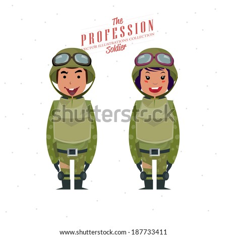 Soldier - vector illustration - stock vector