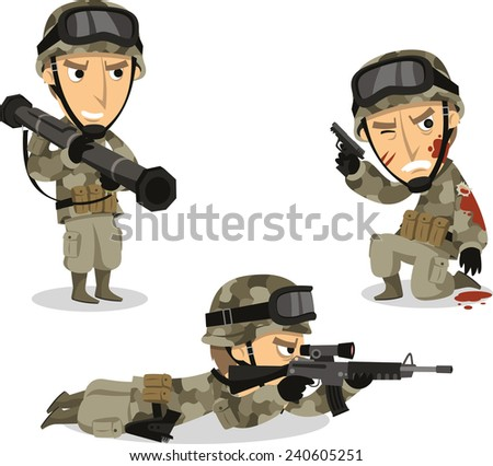 """""""military Uniform"""" Stock Photos, Royalty-Free Images ... Soldier With Gun Cartoon"""
