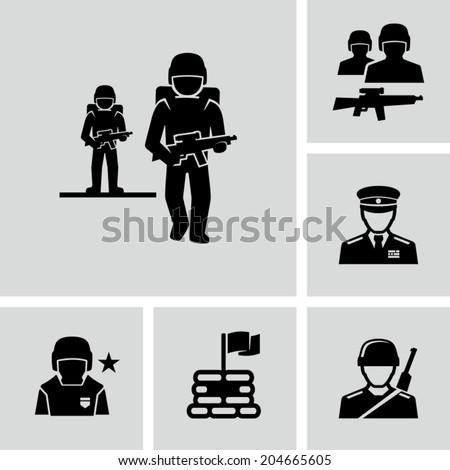 Soldiers  - stock vector