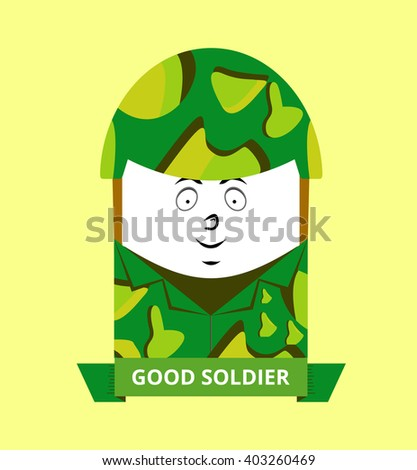 soldiers cartoon icon - stock vector