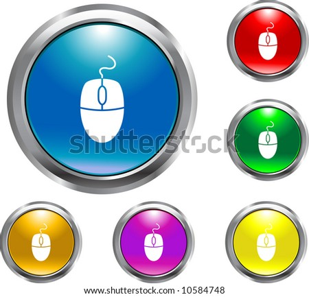 Solid Mouse Button - stock vector