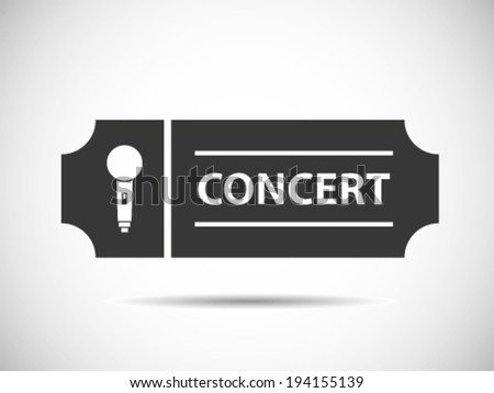Solo Concert Tickets - stock vector