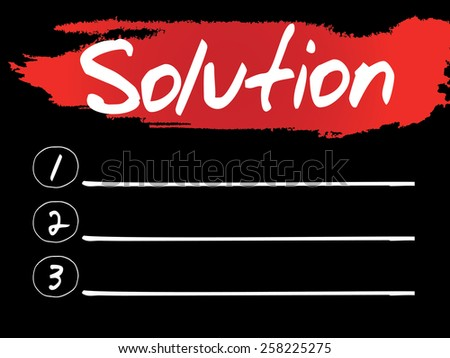 Solution Blank List, vector concept background - stock vector