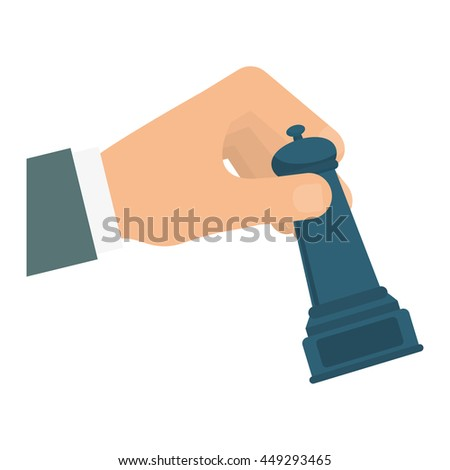 Solution concept represented by chess and arrow icon. isolated and flat illustration  - stock vector