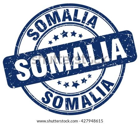 Somalia blue grunge round vintage rubber stamp.Somalia stamp.Somalia round stamp.Somalia grunge stamp.Somalia.Somalia vintage stamp. - stock vector