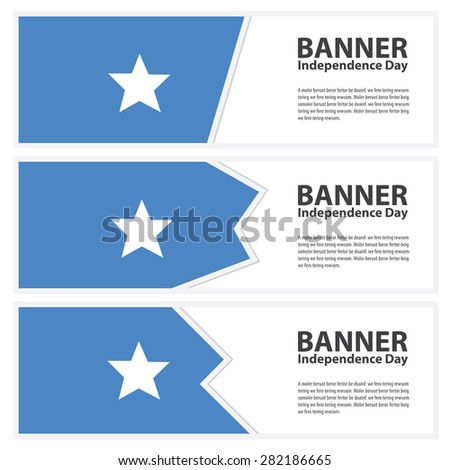 somalia Flag banners collection independence day - stock vector