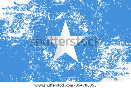Somalia Grunge Texture Flag. Grunge effect can be cleaned easily. - stock vector