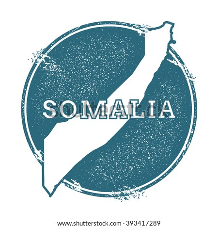 Somalia map. Grunge rubber stamp with Somalia name and map. Can be used as insignia, logotype, label, sticker or badge of Somalia map. Vector illustration. - stock vector