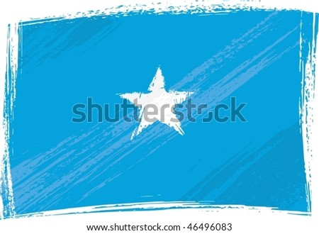 Somalia national flag created in grunge style