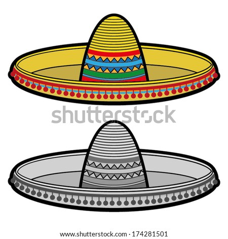 SOMBRERO hat illustration vector