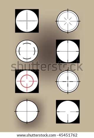 Some crosshairs - stock vector