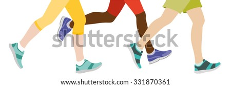 Some People jogging - stock vector