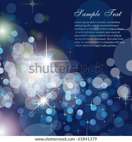 Sophisticated Glitter Christmas Background for Invitation Flyers - stock vector