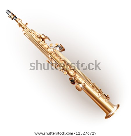 Soprano sax - Vector illustration - stock vector