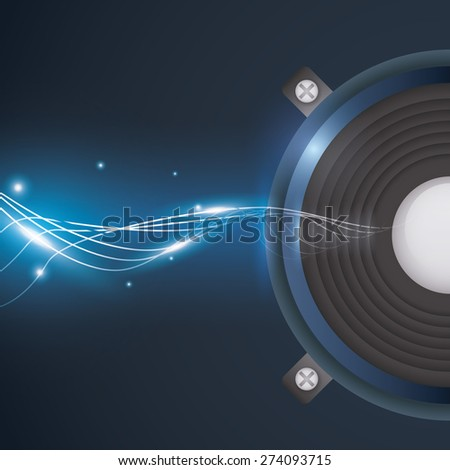 Sound design over white background, vector illustration. - stock vector