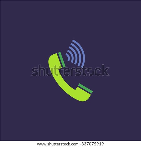 Sound from the handset - phone. Icon Vector. Icon Picture. Icon Graphic. Icon Art. Icon JPG. Icon JPEG. Icon EPS. Icon AI. Icon FLAT. Icon SIMPLE - stock vector