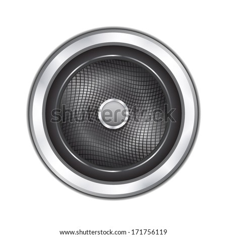 Sound speaker icon - stock vector