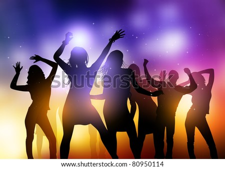 Sound System Party - stock vector