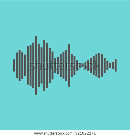 Sound wave beats - stock vector