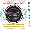 sound wave brushes - stock photo