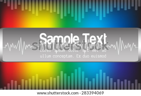 sound wave colorful abstract vector background - stock vector