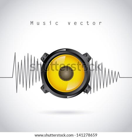 sound wave design over gray background vector illustration - stock vector