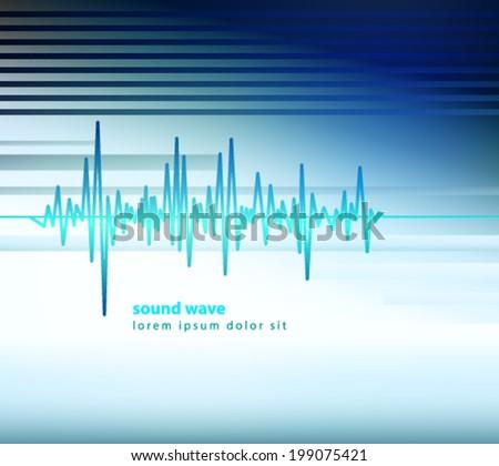 sound wave equalizer background - stock vector